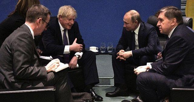 Boris Johnson ve Putin Berlin'de bir araya geldi