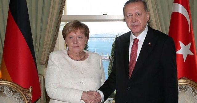 Cumhurbaşkanı Erdoğan, Angela Merkel ile görüştü