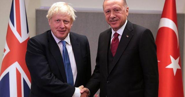 Cumhurbaşkanı Erdoğan, Birleşik Krallık Başbakanı ile görüştü