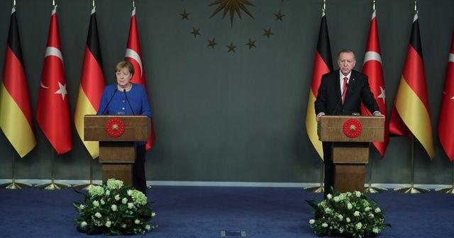 Cumhurbaşkanı Erdoğan ile Merkel'den ortak açıklama