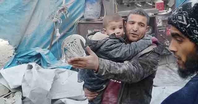 Esad rejimi pazar yerine hava saldırısı düzenledi