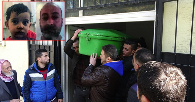 Feci kazada ölen baba ve olunun cenazesi yakınlarına teslim edildi