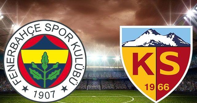 Fenerbahçe Kayserispor kupa maçı hangi kanalda, saat kaçta yayınlanacak? Fenerbahçe Kayserispor canlı yayın izle