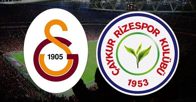 Galatasaray Çaykur Rizespor Canlı İZLE | Galatasaray Çaykur Rizespor maçı hangi kanalda, saat kaçta?