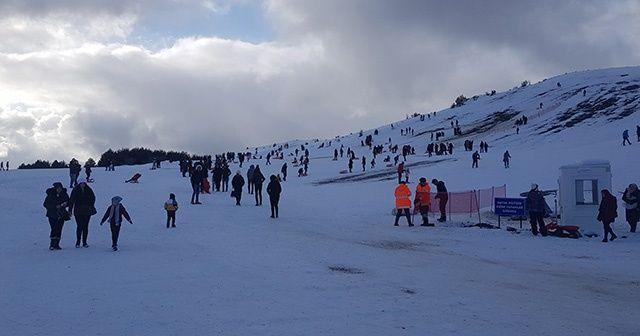 Keltepe kayak merkezi ilgi odağı oldu