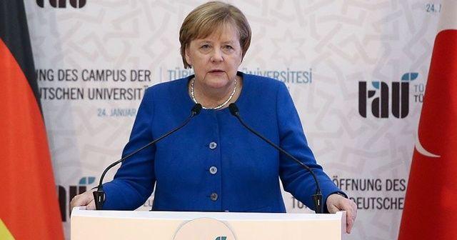 Merkel'den Türk-Alman ortaklığı vurgusu