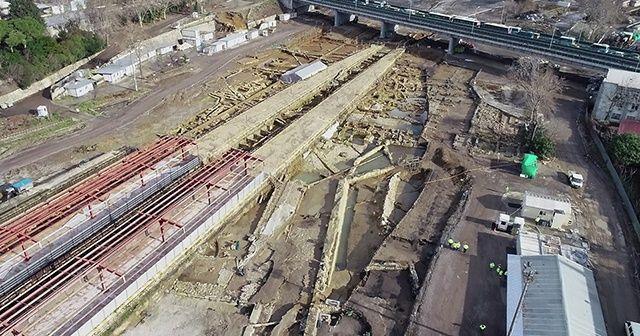 Rayların altından çıkan tarihi dev liman şehri