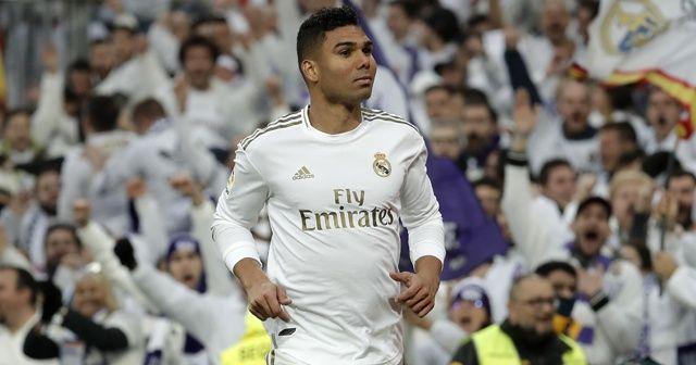 Real Madrid üç puanı Casemiro ile aldı