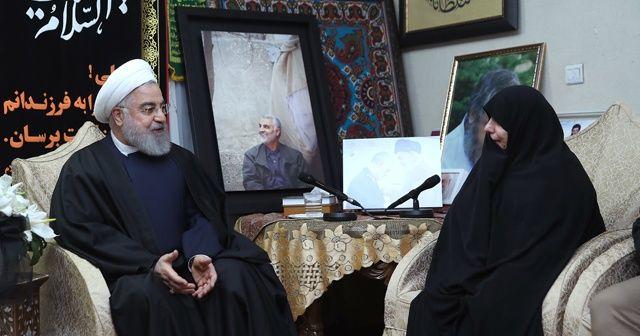 Ruhani, Kasım Süleymani'nin evini ziyaret etti
