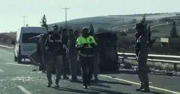 Askeri araç devrildi: 4 yaralı