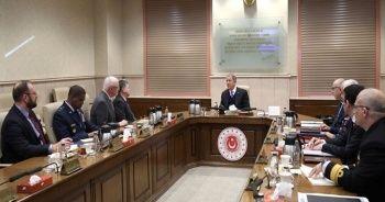 Bakan Akar, ABD Suriye Özel Temsilcisi James Jeffrey'i kabul etti