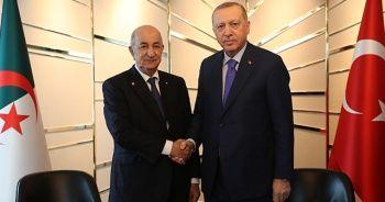 Cumhurbaşkanı Erdoğan, Cezayirli mevkidaşı Tebbun ile görüştü