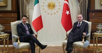Cumhurbaşkanı Erdoğan, İtalya Başbakanı Giuseppe Conte'yi kabul etti
