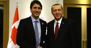 Cumhurbaşkanı Erdoğan, Kanada Başbakanı Justin Trudeau ile görüştü
