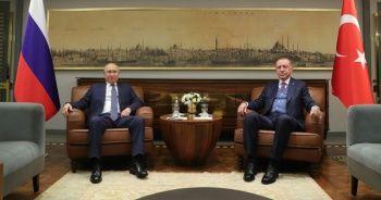 Cumhurbaşkanı Erdoğan ile Rusya Devlet Başkanı Vladimir Putin'in görüşmesi sona erdi