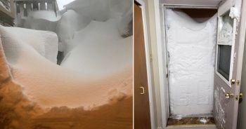 Kanada'da kar kalınlığı 2 metreyi aştı, evlerin çevresi karla kaplandı