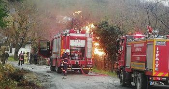 Ordu'da doğal gaz ana hattında patlama ve yangın