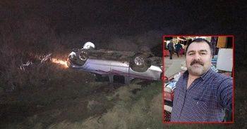 Takla atan kamyonetin sürücüsü öldü