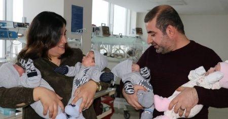 6 yıldır evlat hasreti çeken ailenin dördüz sevinci