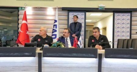 AFAD: 'TAMP çalışma grubu 24 saat çalışacak'