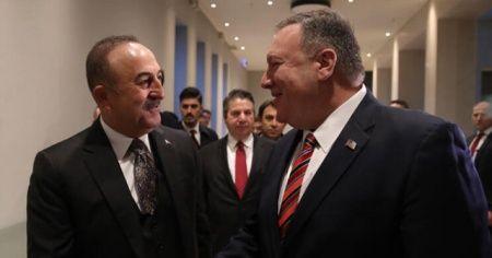 Bakan Çavuşoğlu, Berlin'de ABD'li mevkidaşı ile bir araya geldi