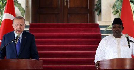 Cumhurbaşkanı Erdoğan'dan Gambiya'da önemli açıklamalar
