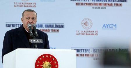 Cumhurbaşkanı Erdoğan'dan 'Kanal İstanbul' açıklaması