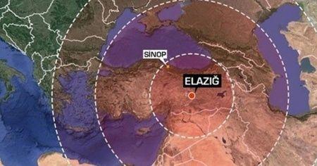 Elazığ depremini kaç kişi hissetti? Avrupa Akdeniz Sismoloji Merkezi harita yayınladı