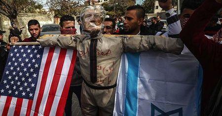 Gazzelilerden Trump'ın sözde barış planına tepki