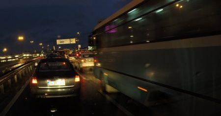 İstanbulluların trafik çilesi araç kamerasında