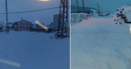 Kar kalınlığı 1 metreyi aştı! Yollar ulaşıma kapandı