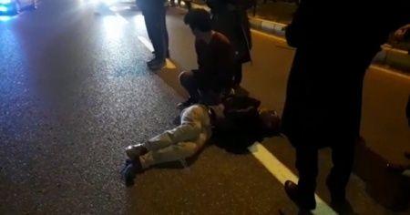 Karşıdan karşıya geçerken otomobil çarpan yaya ağır yaralandı