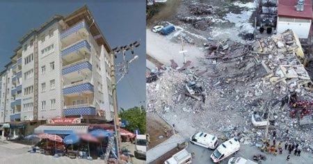 Mavigöl Apartmanı depremde kum tanesine döndü .