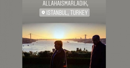 Merkel'den İstanbul paylaşımı! 'Allahaısmarladık'