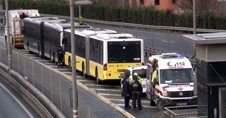 Okmeydanı durağında metrobüs kazaso