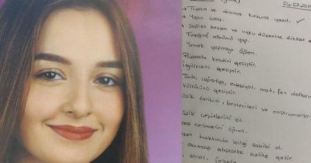 Öldürülen Ceren'in günlük notları ortaya çıktı