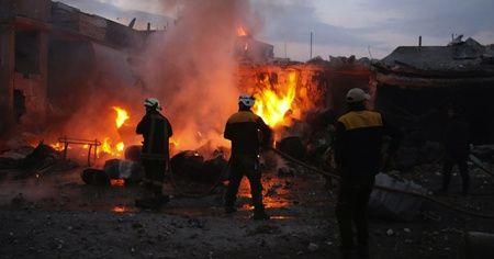 Rusya İdlib'de hastane vurdu
