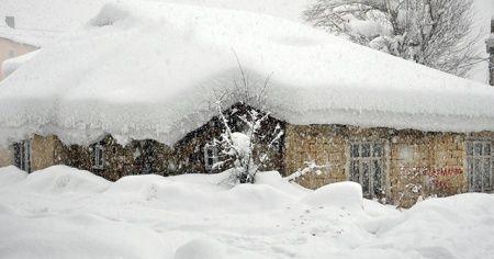 Yüksekova'da tek katlı evler kara gömüldü