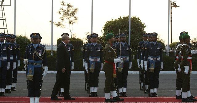 Cumhurbaşkanı Erdoğan, resmi törenle karşılandı