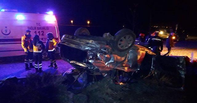 Denizli'de otobüs ile otomobil çarpıştı: 3 ölü