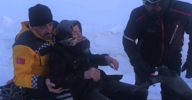 Erzincan'da 6 saatlik hasta kurtarma operasyonu