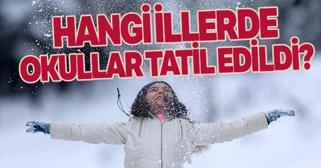 HANGİ İLLERDE OKULLAR TATİL EDİLDİ? Bugün okullar tatil mi? İşte kar tatili olan iller
