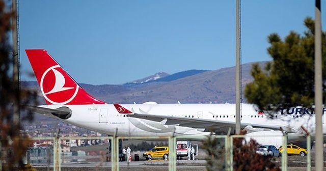 İran Hava Yollarına ait bir uçak İranlıları götürmek üzere Esenboğa Havalimanına indi