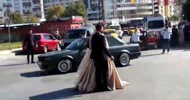 İstanbul'da düğün konvoylarında şoke eden görüntüler