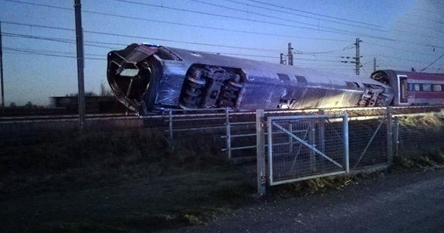 İtalya'da tren raydan çıktı: 2 ölü, 30 yaralı