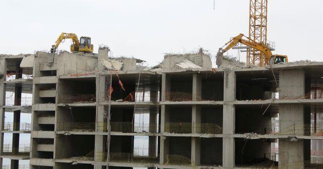 Ordu'daki gökdelenlerin yıkımı 12 gündür sürüyor
