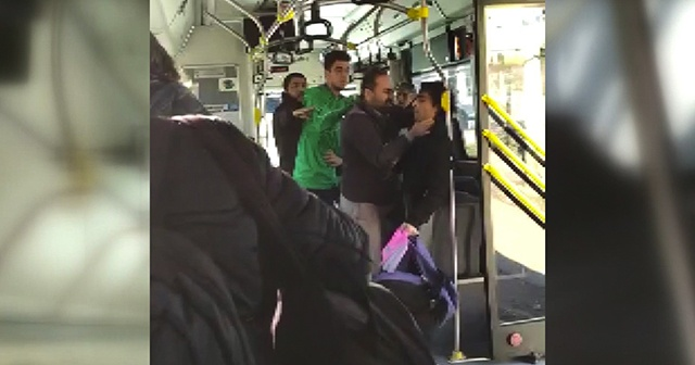 Özel halk otobüsündeki kavganın çıkış nedeni belli oldu! Otobüs şoförü görevden uzaklaştırıldı