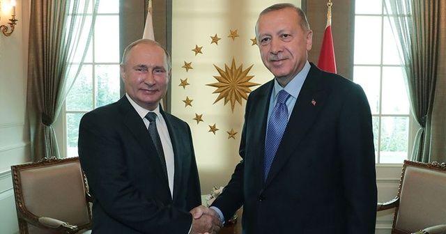 Putin'den, Cumhurbaşkanı Erdoğan'a doğum günü tebriği