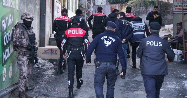 Trabzon'da emniyetten 68 ekip ve 214 personel ile şok uygulaması