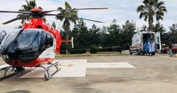 Ambulans helikopter Tuğçe bebek için havalandı
